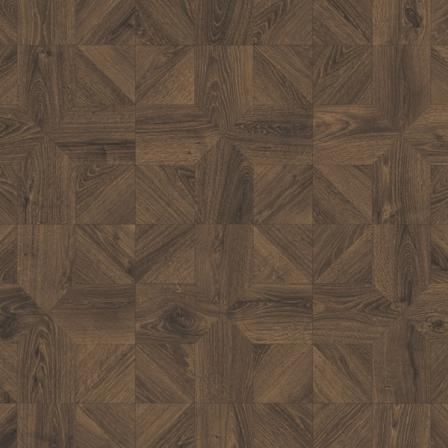 Ламинат влагостойкий Quick-Step IMPRESSIVE PATTERNS Дуб кофейный брашированный IPA4145, плитка